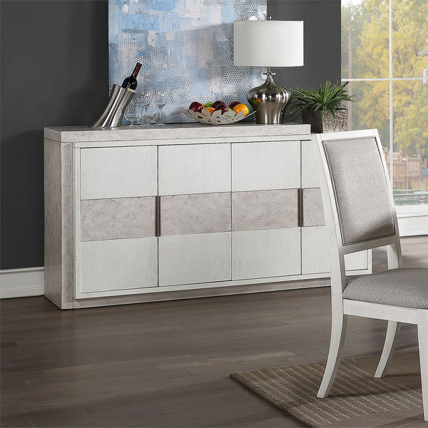 Liberty Furniture Mirage Buffet in Wirebrushed White 946-CB6636 image