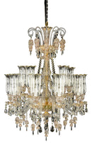 Aico Lighting Garnier 15 Light Chandelier in Clear and Gold LT-CH900-15GLD image