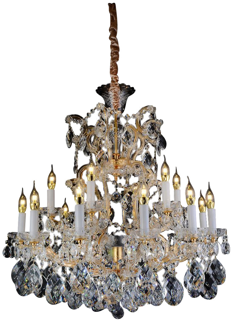Aico Lighting San Carlo 25 Light Chandelier in Clear and Gold LT-CH913-25CLR