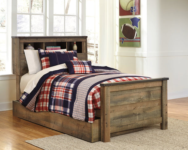 Trinell Signature Design by Ashley Bookcase Bed with Storage Drawer image