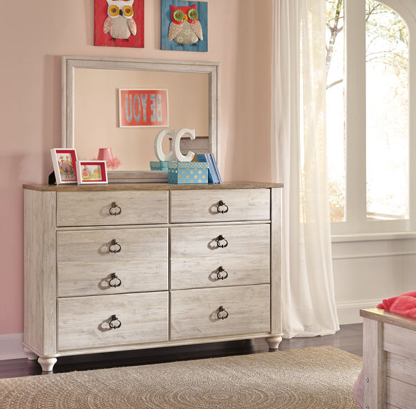 Willowton Signature Design by Ashley Youth Dresser and Mirror