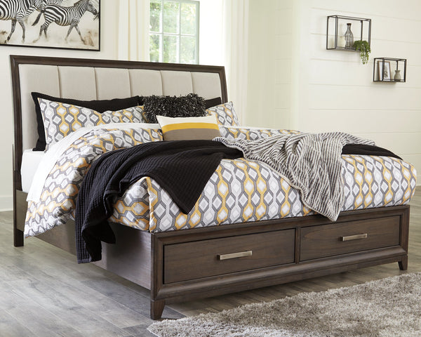 Brueban Signature Design by Ashley Bed with 2 Storage Drawers