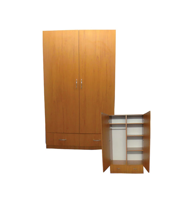 L-24 Brown Wooden Wardrobe by Central Furniture Factory