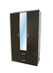 L-42 Black Wooden Wardrobe w/ Mirror by Central Furniture Factory