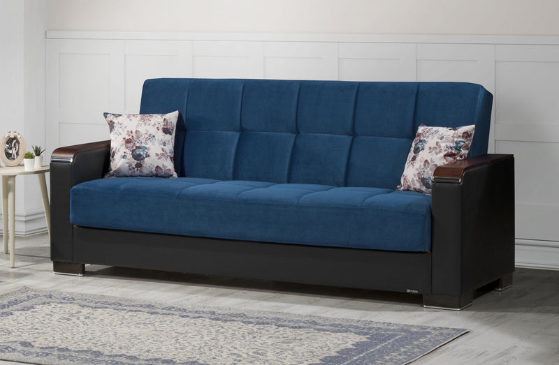 Armada X Emerald Blue Microfiber Sofa Bed by Casamode