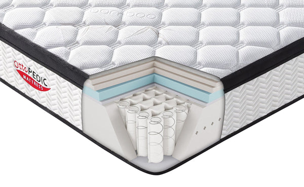 "OttoPEDIC 12"" Euro Top Firm Bamboo Innerspring Pocketed Coil Mattress, Queen Size by Casamode"