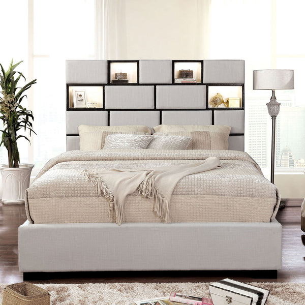 Gemma Beige/Black E.King Bed