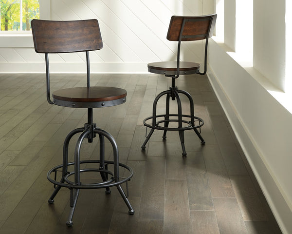 Odium Signature Design by Ashley Swivel Barstool 2CN image