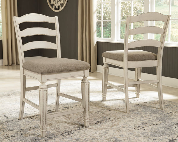 Realyn Signature Design by Ashley Upholstered Barstool 2CN image