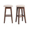 "Jax 30"" Swivel Backless Bar Stool Set of 2"