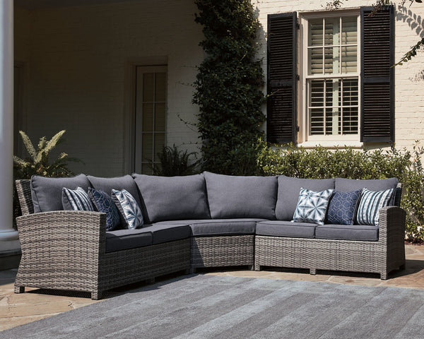 Salem Beach Signature Design by Ashley 3-Piece Outdoor Sectional image