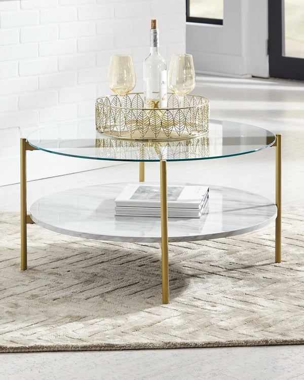 Wynora Signature Design by Ashley Round Cocktail Table image