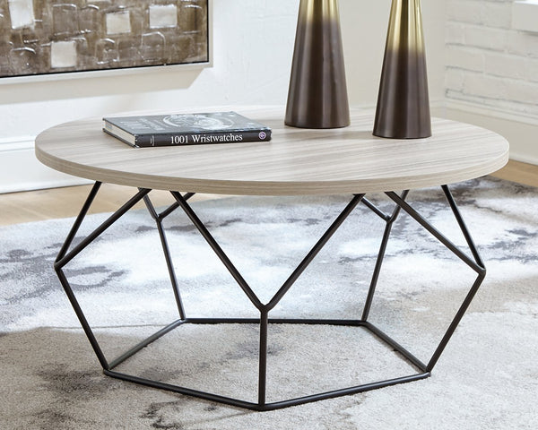 Waylowe Signature Design by Ashley Round Cocktail Table image
