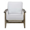 Metro Accent Chair in Taupe w/ Antique Legs