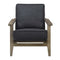Metro Accent Chair in Onyx w/ Antique Legs