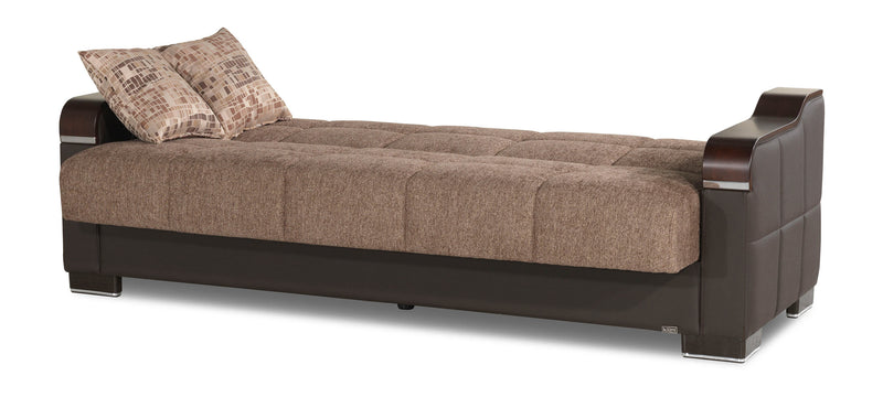 Uptown Brown Convertible Sofabed by Casamode