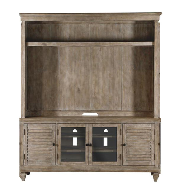 Magnussen Lancaster TV Console with Hutch in Dove Tail Grey image