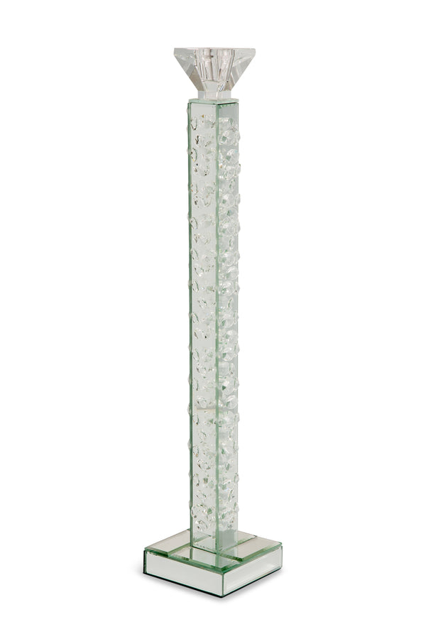 AICO Montreal Slender Mirrored Crystal Candle Holder, Large (6/pack) FS-MNTRL159L-PK6
