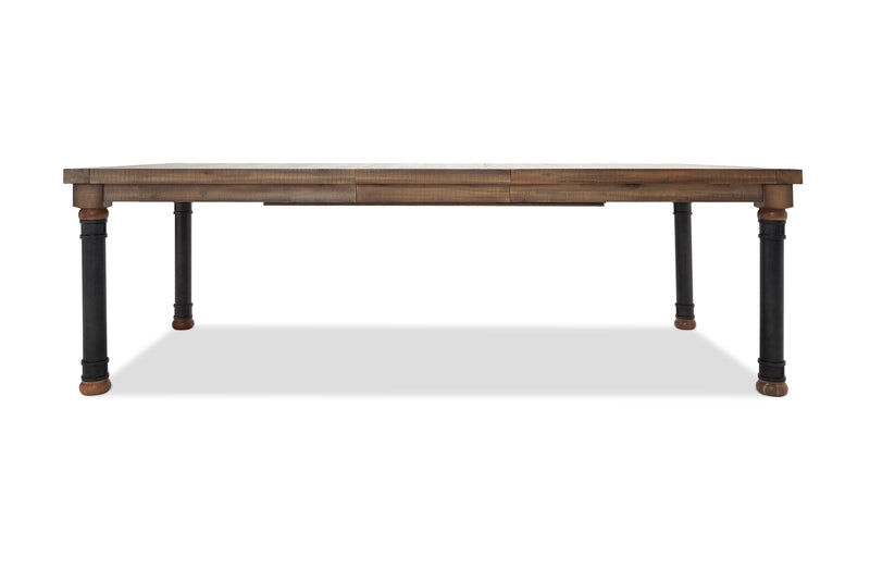 Aico Crossings Rectangle Dining Table w/ Extension Leaf in Reclaimed Barn KI-CRSG000EX-217