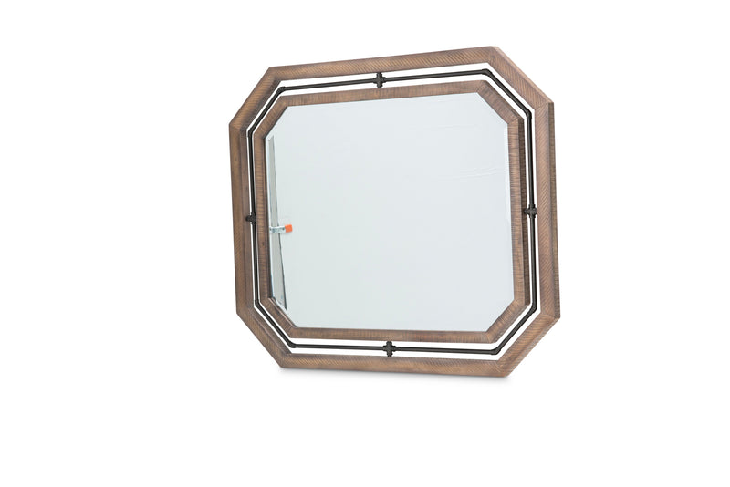Aico Crossings Wall Mirror in Reclaimed Barn KI-CRSG067-217