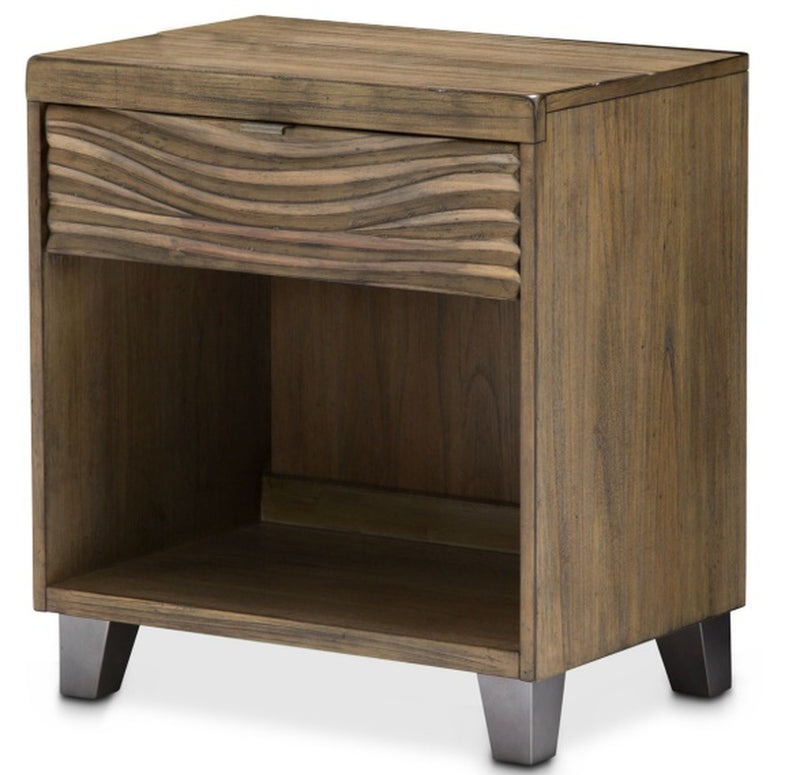 AICO Del Mar Sound Nightstand in Boardwalk KI-DELM040-215