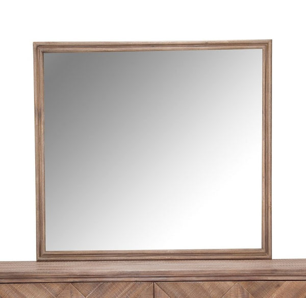 AICO Hudson Ferry Mirror in Driftwood (Brown Fabric) KI-HUDF060-216
