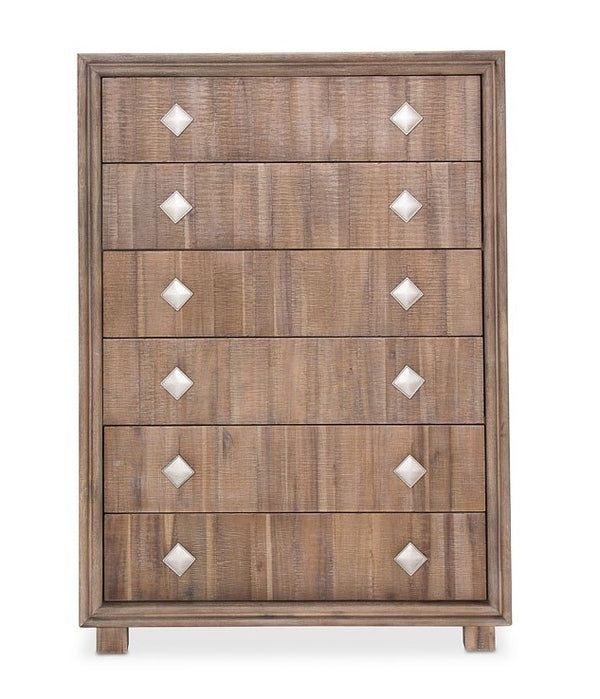 AICO Hudson Ferry 6 Drawer Chest in Driftwood KI-HUDF070-216