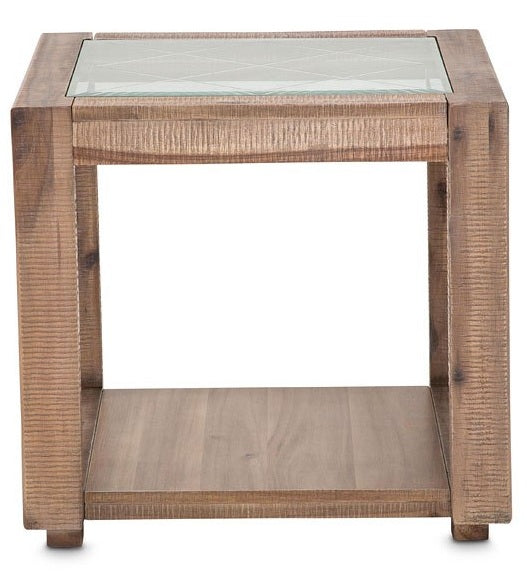 AICO Hudson Ferry End Table in Driftwood KI-HUDF202-216