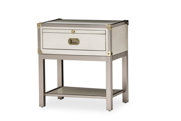 AICO Menlo Station 1 Drawer Nightstand in Eucalyptus KI-MENP040-123