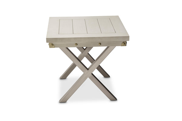 AICO Menlo Station End Table in DoveGray KI-MENP202-123