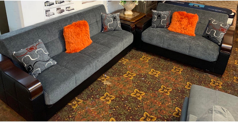 Uptown Sofa sleeper and Loveseat  w/ storage