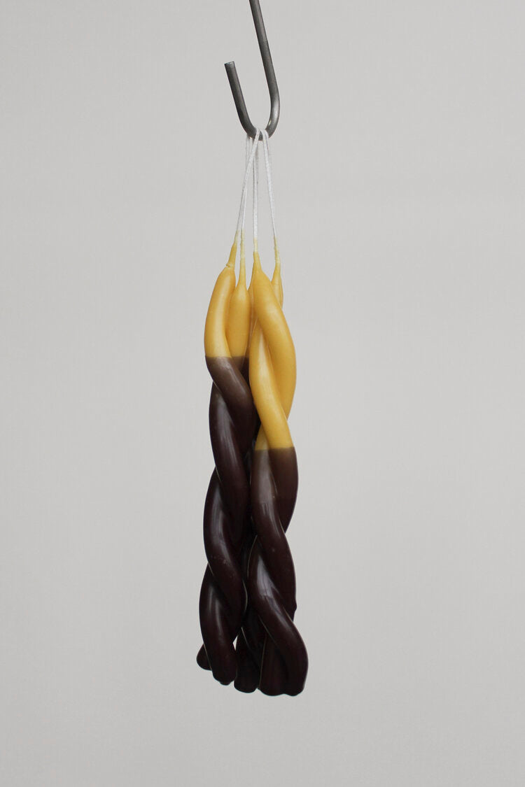 WAX Atelier Twisted Candle - Double Dipped