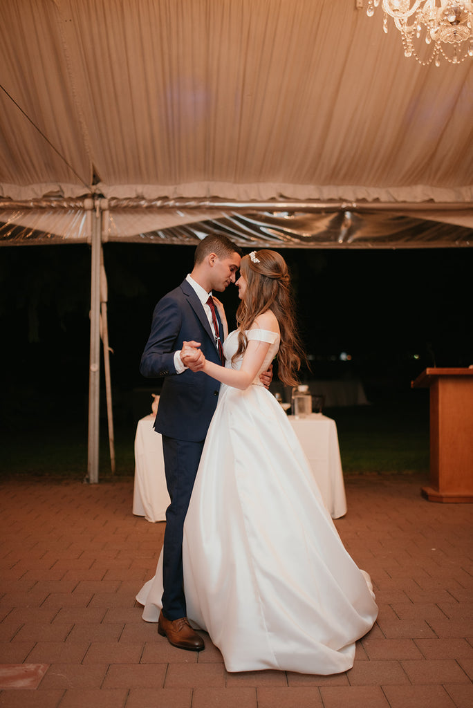 Brock House first dance under the tent wedding