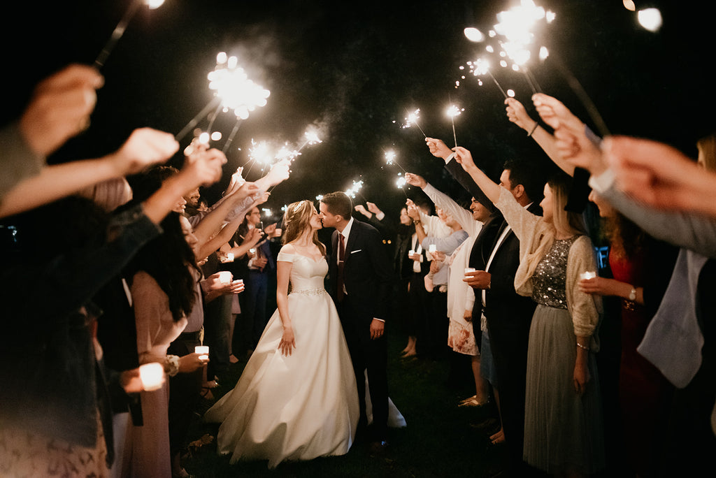 Brock House wedding sparklers idea