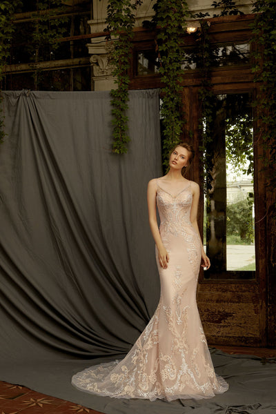 Norah - Sweetheart Neckline Sheath Wedding Dress - Maxima Bridal
