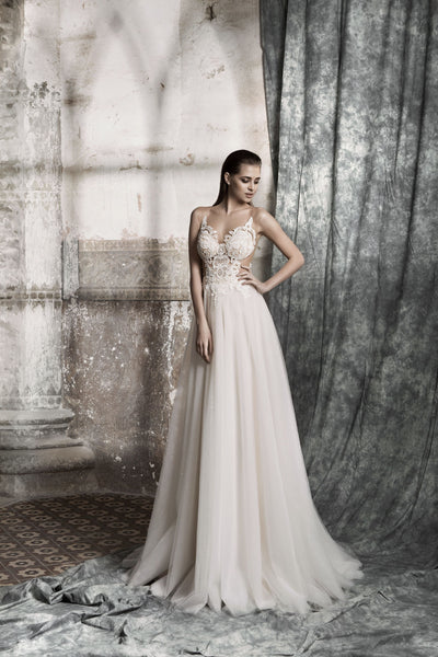 Joanna - Bohemian A-Line Wedding Dress - Maxima Bridal