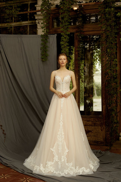 Iris - A Line Wedding Dress with Sweetheart Bodice - Maxima Bridal