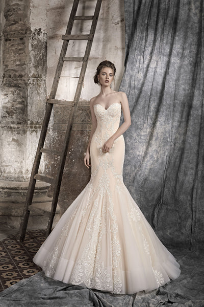 Beatrice - Strapless Mermaid Wedding Dress with Sweetheart Bodice - Maxima Bridal