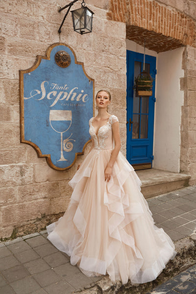 Sophie - Ruffled Skirt Ball Gown with Sweetheart Neckline - Maxima Bridal
