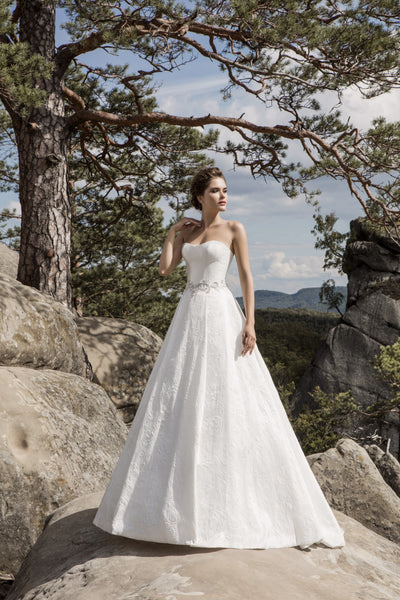 Valeria - Strapless A-Line Wedding Dress with Corset Back - Maxima Bridal