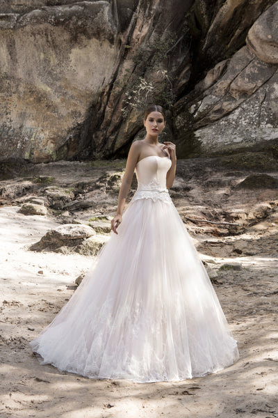 Alice - Strapless Ball Gown with Corset Bodice - Maxima Bridal