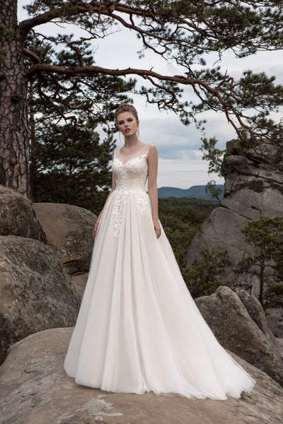 Florence - Beaded Bodice A-Line Wedding Dress - Maxima Bridal