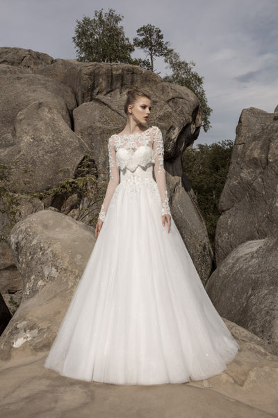 Marie - Sweetheart Neckline A-Line Wedding Dress with Bolero - Maxima Bridal
