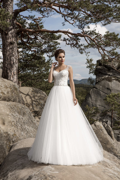 Bianca - Beaded Bodice Ball Gown with Tulle Skirt - Maxima Bridal