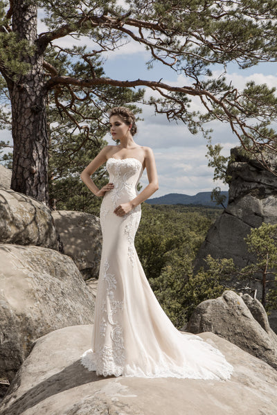 Emma - Strapless Low Back Mermaid Wedding Dress - Maxima Bridal