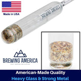 American-Made Syrup Hydrometer Density Meter for Sugar and Maple Syrup - Baume and Brix Scale Single Hydrometer Brewing America