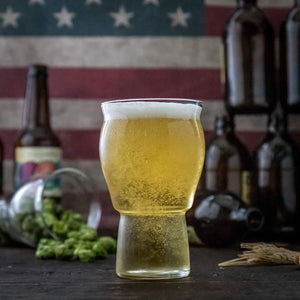 Muffin Top Nucleated Beer Glasses - Pint Glass - Cider, Soda, Tea (Muffin Top Clear Single) Accessories Brewing America