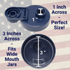 Mason Jar Lids Wide Mouth Plastic 1 Pack Leak Proof with Flip Cap Pouring Spout & Drink Hole Old Glory Blue Accessories Brewing America