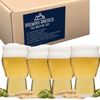 Muffin Top Nucleated Beer Glasses - Pint Glass - Cider, Soda, Tea (Muffin Top Clear 4-pack) Accessories Brewing America