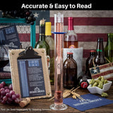 American-Made Beer Mashing Hydrometer Calibrated at 155 Degrees Fahrenheit - Specific Gravity Pro Series Brewing Triple Scale Single Hydrometer Brewing America